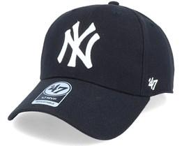 New York Yankees Mvp Black/White Adjustable - 47 Brand