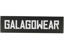Sticker Logo 4x15 CM Black - Galagowear