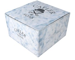 Marble Gift Box 12x20 CM White/Blue - Cayler & Sons