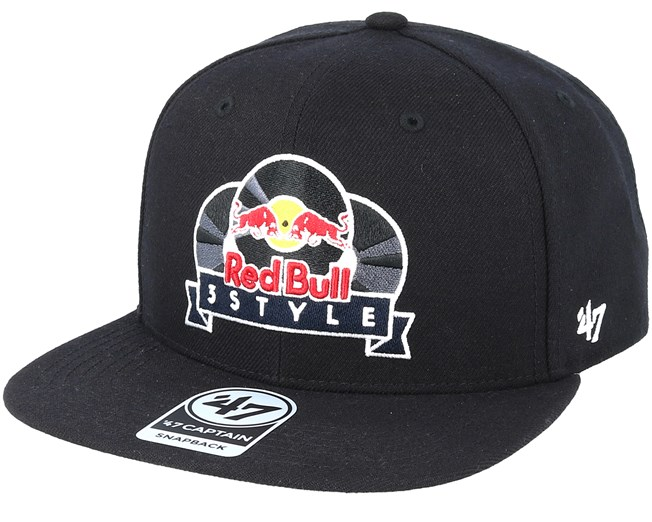 Red Bull 3Style Exclusive Black Snapback - 47 Brand caps  8334ce2c792
