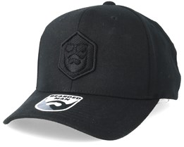 Hexagon Logo 110 Black Black Adjustable - Bearded Man 7fed570d27