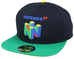 Nintendo N64 Logo Black/Green Snapback - Difuzed