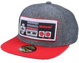 Nintendo Nes Controller Linen Grey/Red Snapback - Difuzed