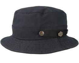Max Wax Cotton W.P Black Bucket - MJM Hats