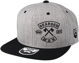 MC Patch Grey/Black Snapback - Bearded Man