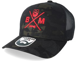 BM Cross Dark Camo Trucker - Bearded Man