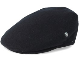 Black Earflap Flat Cap - City Sport