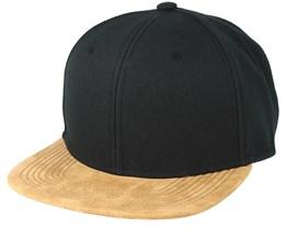 Blank Suede Black Snapback - Equip