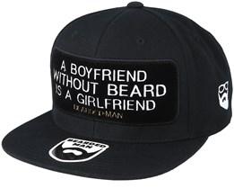 Boyfriend Frame Black Snapback - Bearded Man