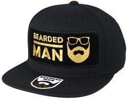 BMLogo Frame Black Snapback - Bearded Man