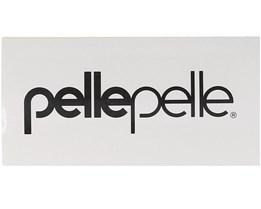 Sticker Logo White 12x6 CM White/Black - Pelle Pelle