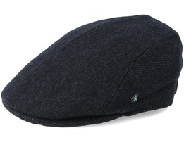 Sixpence Black/Dark Grey Flat Cap - City Sport
