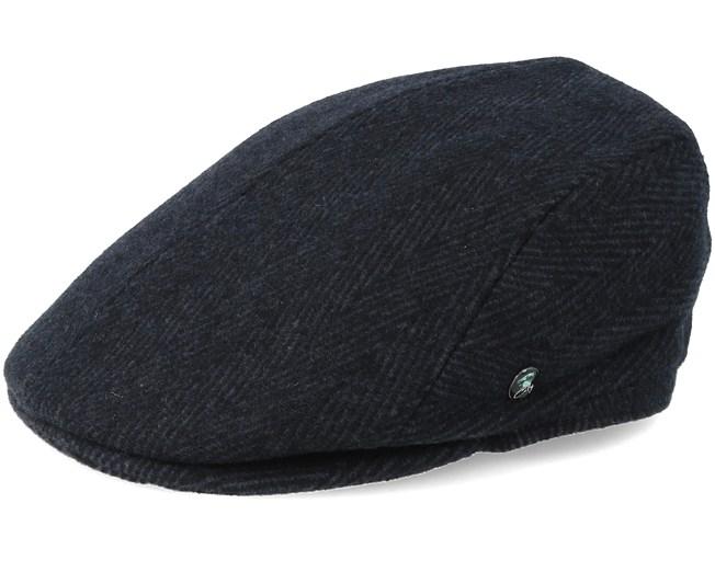 6818588e9 Sixpence Black/Dark Grey Flat Cap - City Sport caps | Hatstore.co.uk