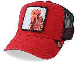 Plucker Baseball Cap Red/Black Trucker - Goorin Bros.