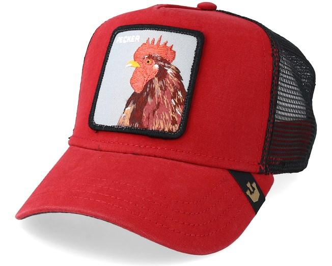 93c83382 Plucker Baseball Cap Red/Black Trucker - Goorin Bros. caps ...