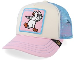 Kids Silley Goose White/Blue/Pink Trucker - Goorin Bros.