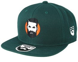 Sunshine Man Green Snapback - Bearded Man