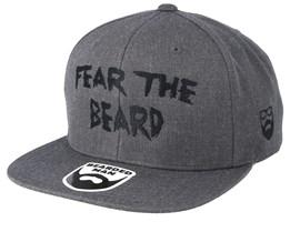 Fear The Beard Dark Heather Snapback - Bearded Man