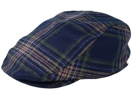 Frankie Checked Blue Flat Cap - Mayser