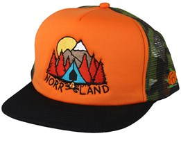 Campsite Orange Trucker - Sqrtn