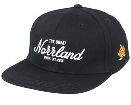 Kids Great Norrland Black Snapback - Sqrtn
