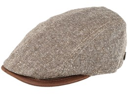 Daffy 3 Brown Flat Cap - MJM Hats