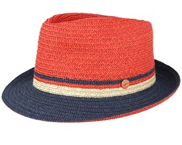 Troy Red/Navy Trilby - Mayser