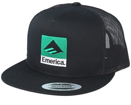 Classic Black/Green Trucker - Emerica