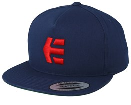 Iconic Navy/Red Snapback - Etnies