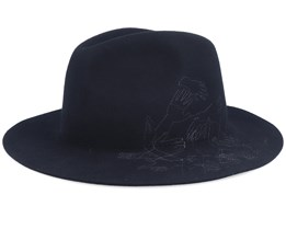 Telephone Felt Barclay Black Fedora - Kangol