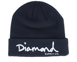 Script Navy/White Cuff - Diamond