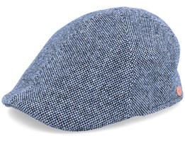 Paddy Tweed Blue Flat Cap - Mayser