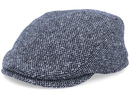 Frankie Tweed Black/White Flat Cap - Mayser