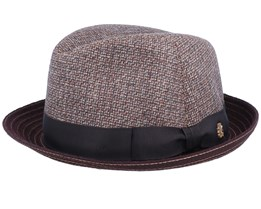 Landon Wool Mix Brown Trilby - Mayser