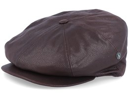 Suede Leather Brown Flat Cap - City Sport