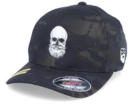 Bearded Skull Black Camo Flexfit - Bearded Man