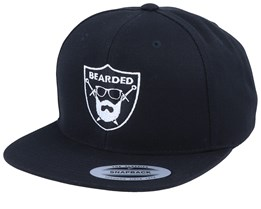 Bearded Sword Badge Black Snapback - Bearded Man