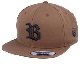 Old English B Brown Snapback - Bearded Man