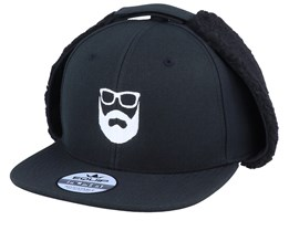 Logo Black Earflap - Bearded Man
