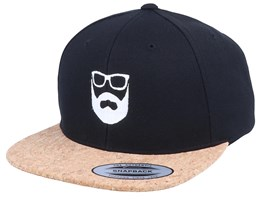 Logo Black/Cork Snapback - Bearded Man