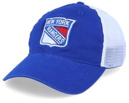 New York Rangers Value Core Unstructured Blue/White Trucker - Fanatics