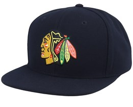 Chicago Blackhawks Value Core Black Snapback - Fanatics