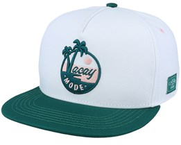 Vacay Stripes White/Green Snapback - Cayler & Sons