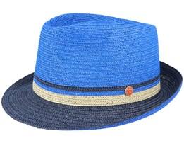 Troy Paper Blue Trilby Straw Hat - Mayser