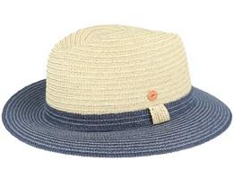 Mathis Paper Beige/Navy Straw Hat - Mayser