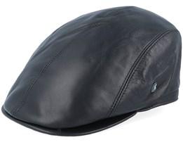 M22Leather Black Flat Cap - City Sport