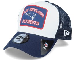 New England Patriots Graphic Patch A-Frame White/Navy Trucker - New Era