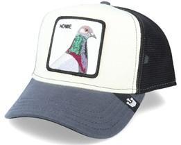 Homie Pigeon Jersey White/Black Trucker - Goorin Bros.