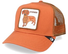 Wiener Dog Orange/Brown Trucker - Goorin Bros.