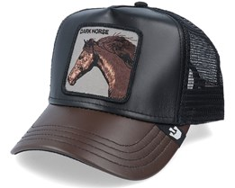 Your Majesty Leather Black/Dark Brown Trucker - Goorin Bros.